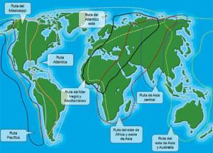rutas migratorias mundo